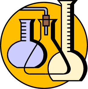 Chemical lab flasks clip. Vector laboratory art vector freeuse stock