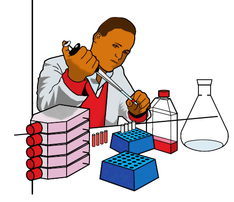 Lab clipart. Worker