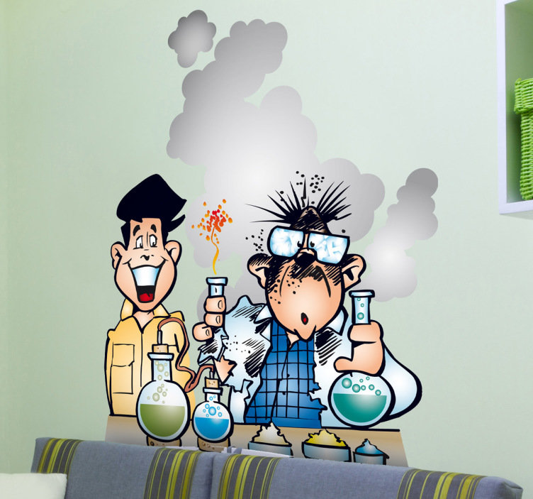 Lab clipart explosion. Laboratory kids stickers tenstickers