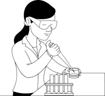 Lab clipart female science teacher. Free black and white