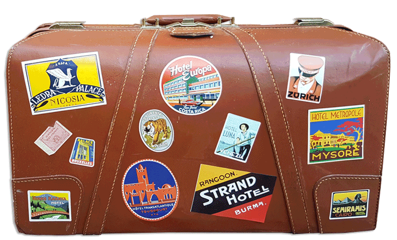 Luggage vector stamp