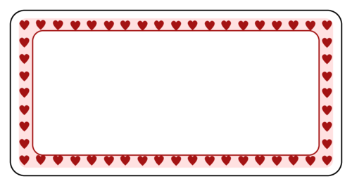 Border label png. Valentine s day hearts
