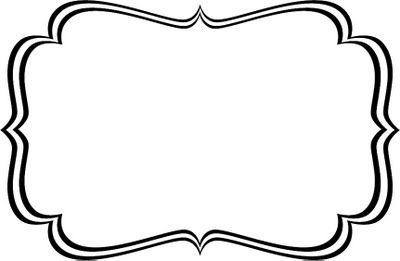 Label clipart. Black and white world