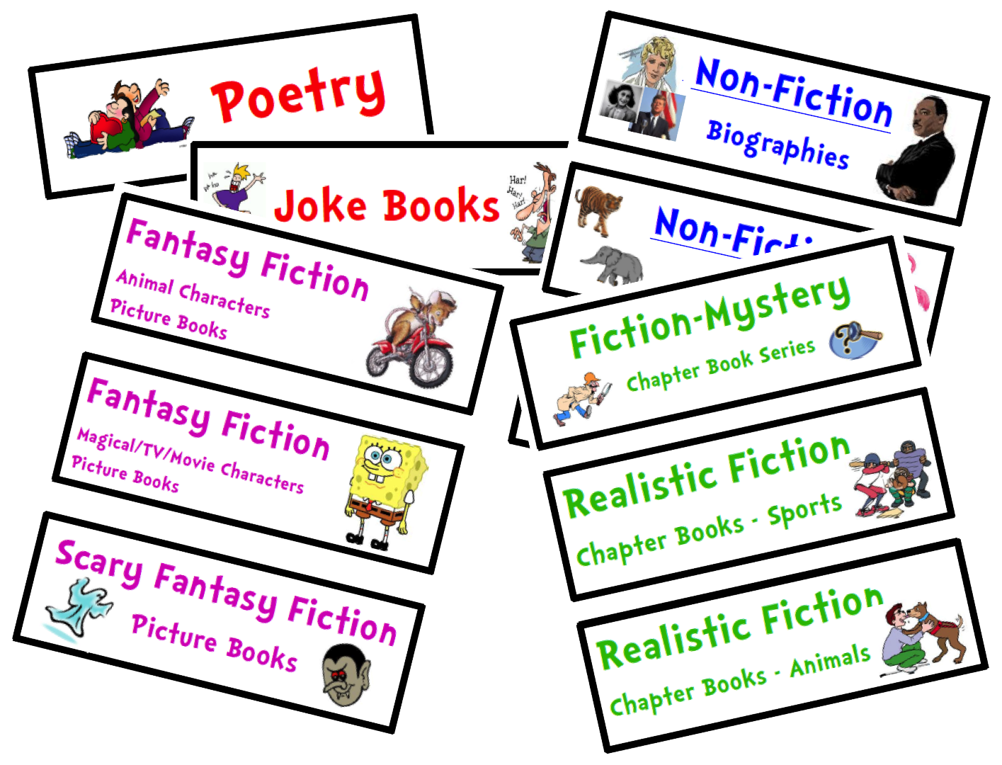 Label clipart book. Organize your classroom library