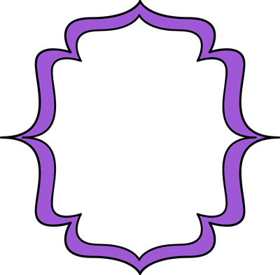 Label clipart bracket. Purple double frame templates