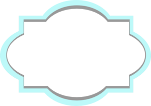 Label clipart bracket. Blue and grey frame