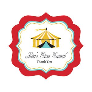 Label clipart circus. Carnival party frame personalized