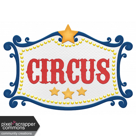 Label clipart circus. Graphic by marcela cocco