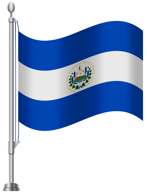 Label clipart flag. Download el salvador png