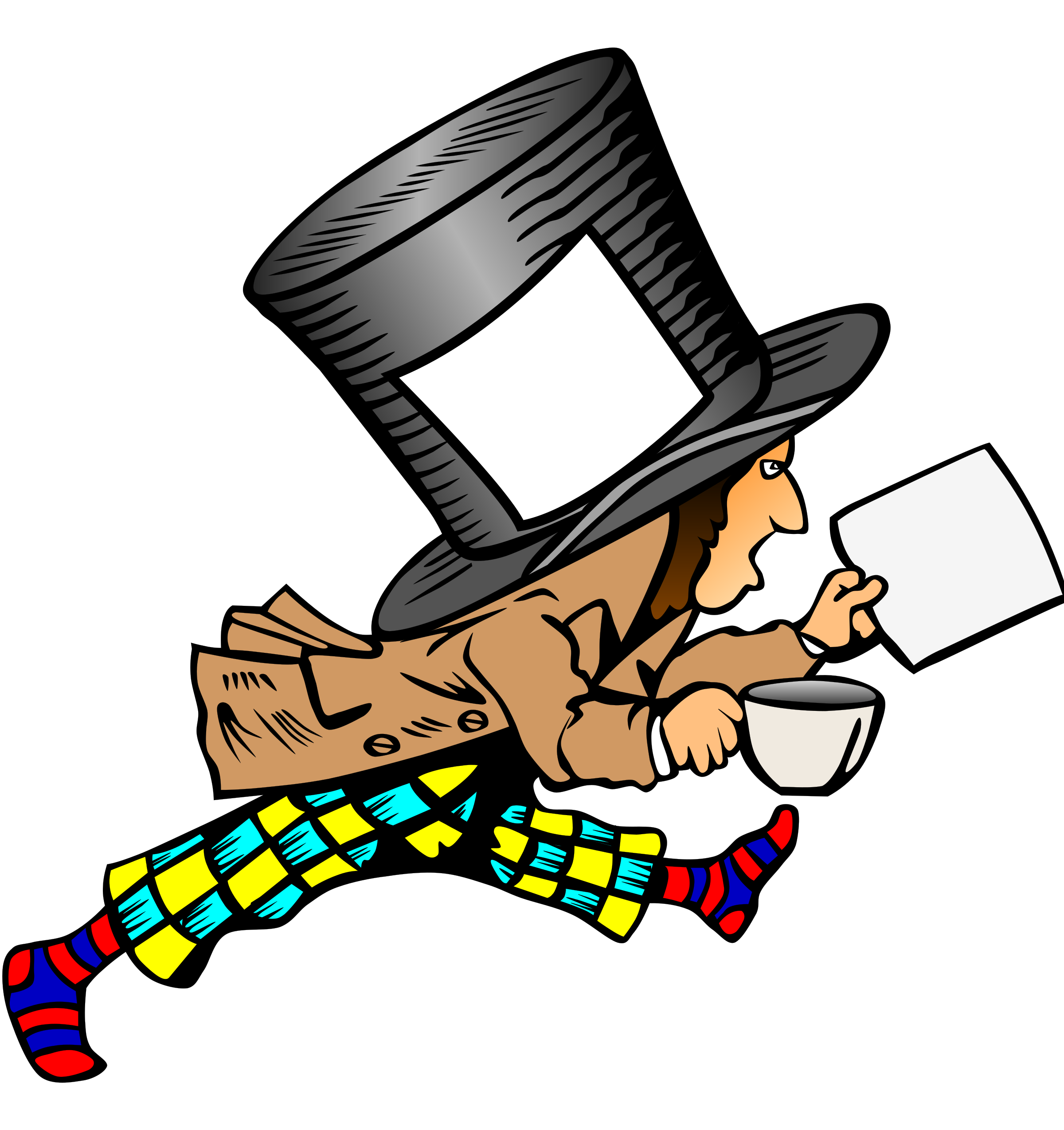 Label clipart paper. Mad hatter with clean