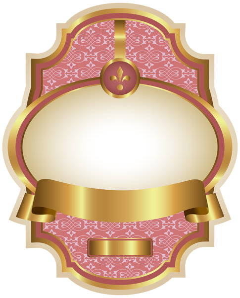 Pink label png