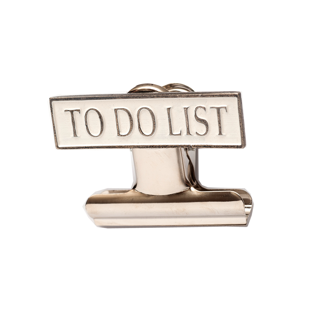 Clip from bulldog. To do list office