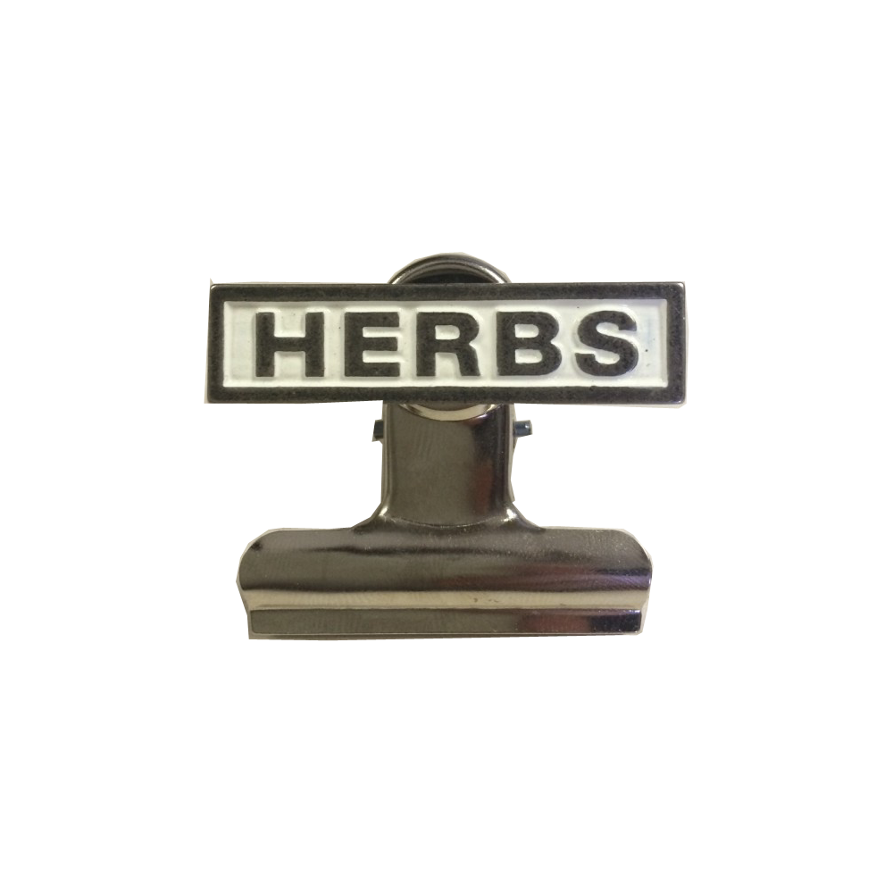 Herbs kitchen food storage. Clip from bulldog png black and white stock