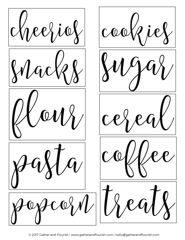 Labels clip pantry. Free printable fold stocks