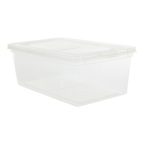 Labels clip storage bin. Boxes and containers lidded