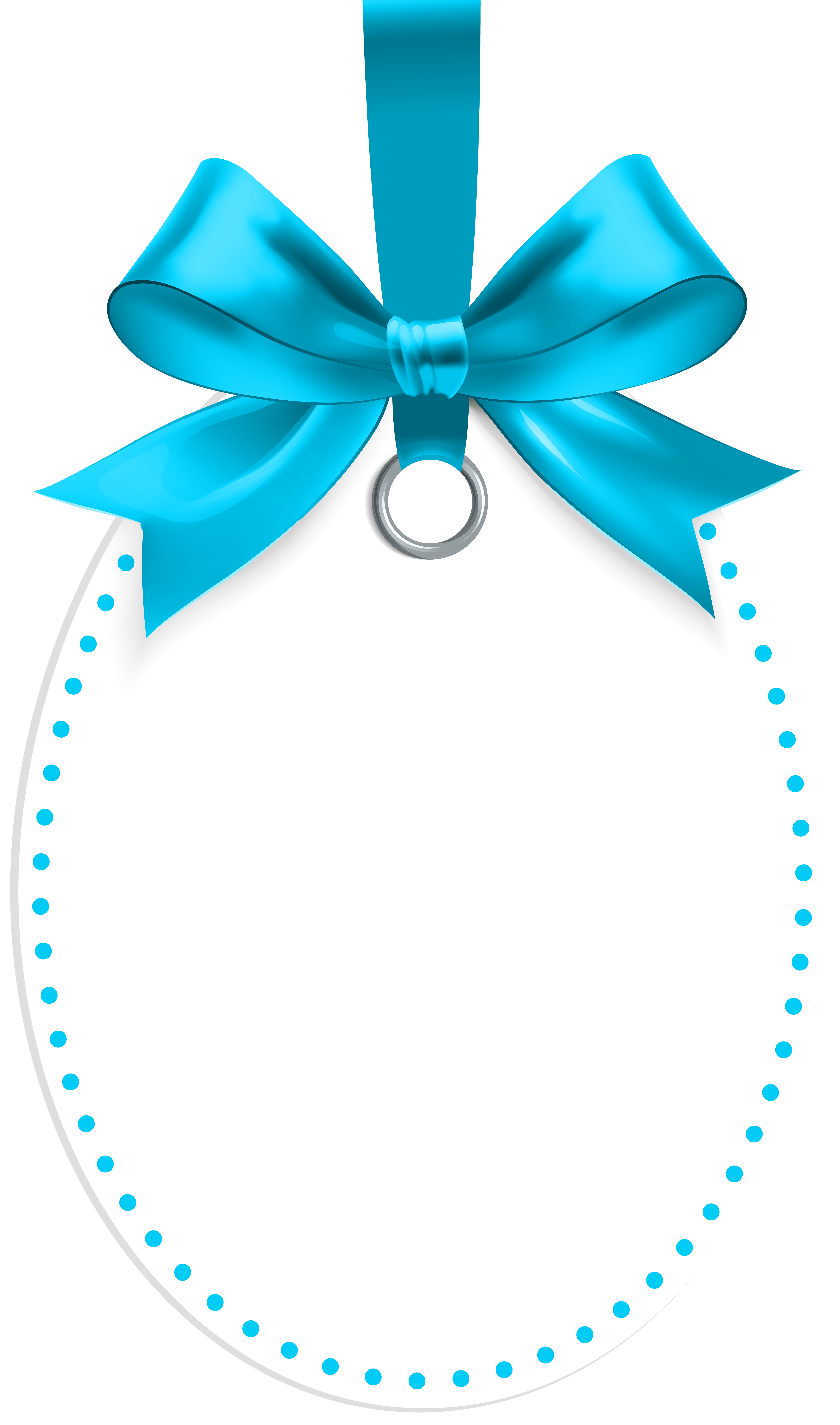 Labels png blue. Label with bow template