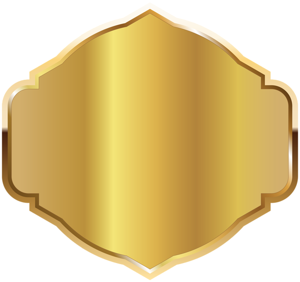 Gold label png. Golden template clipart image