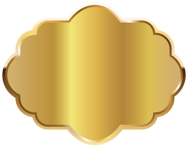 Labels vector gold. Label template clipart image