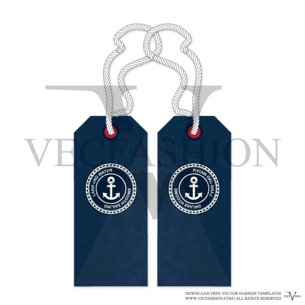 Jeans vector labels. Garment hang tag graphic