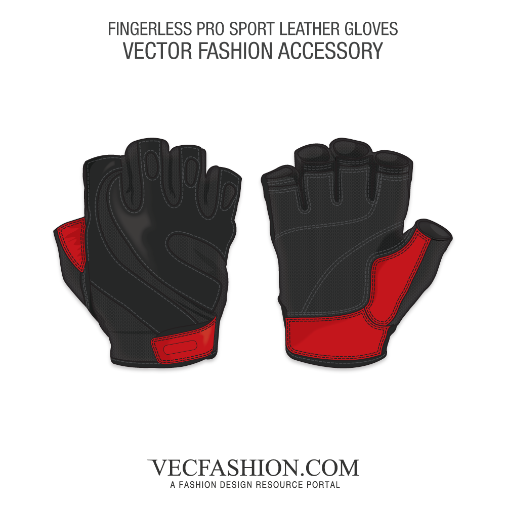 Safety vector glove. Fingerless pro sport leather