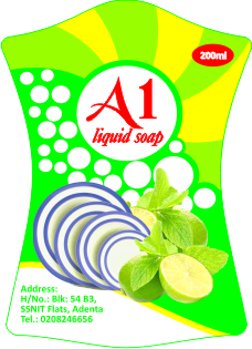 Soap vector liquid. Label for design collection