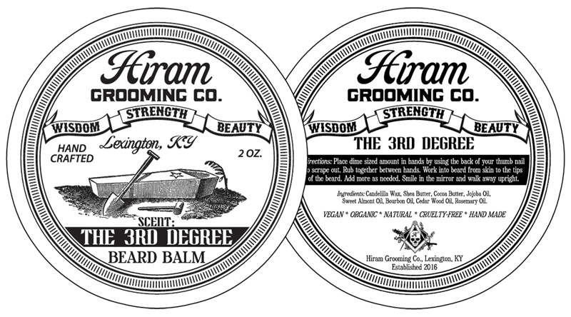 Labels vector product label design. Can for hiram grooming