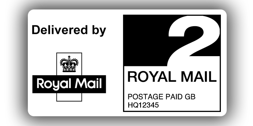 Labels vector royal. Mail nd class ppi