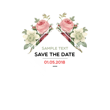 Stickers vector beautiful. Save the date watercolor