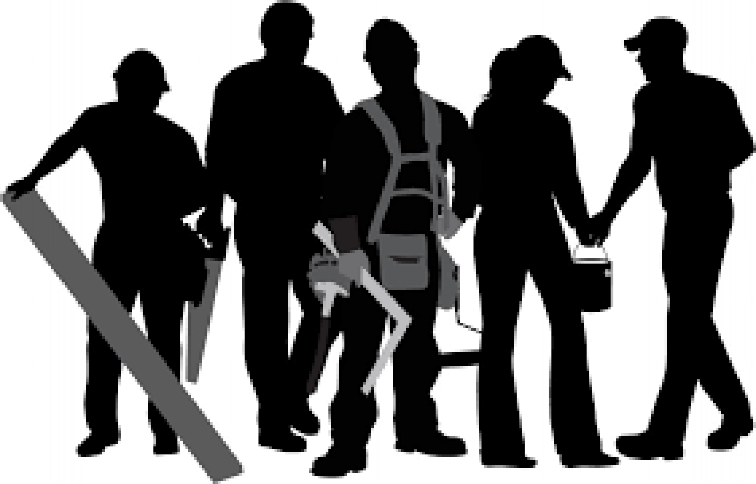 Labor clipart skilled worker. Best friend silhouette at