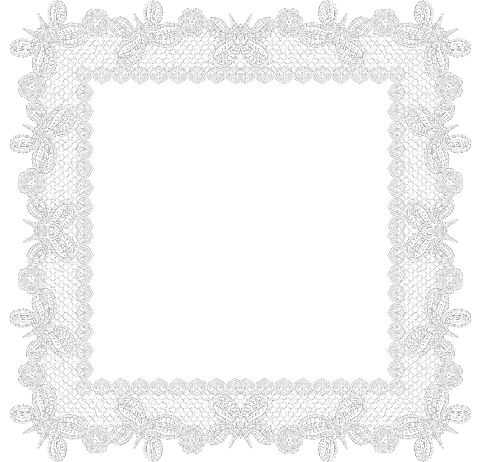 White lace frame png. Free frames and borders