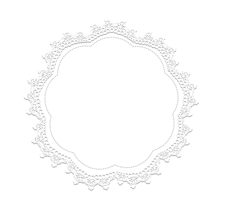 Lace circle png. Area black and white