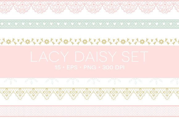 Lace clipart. Eps png illustrations