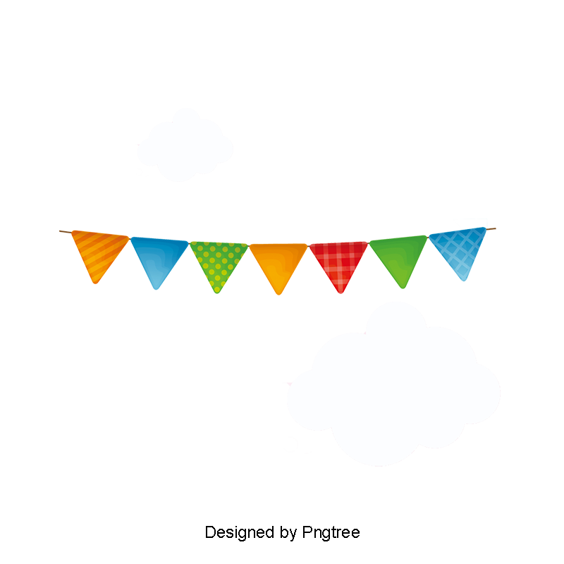 Lace clipart bunting. Ribbon clouds colored png