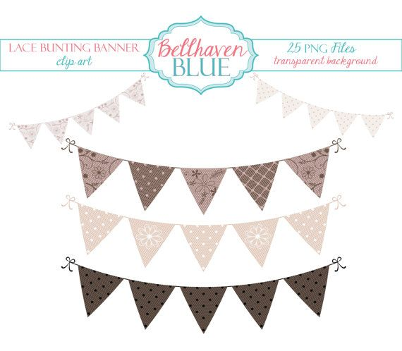 Lace clipart bunting. Banner clip art by