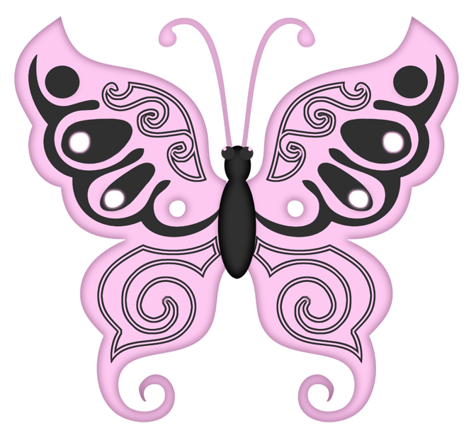Lace clipart butterfly. Lacarolita thinking pink flower