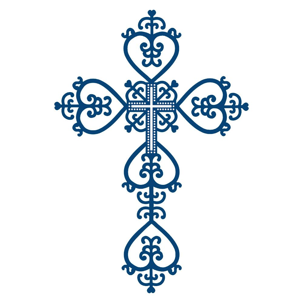 Lace clipart cross. Tattered dies ornate sympathy