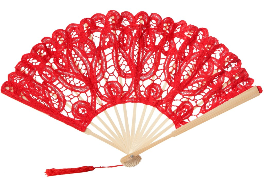 Lace clipart fan. Red