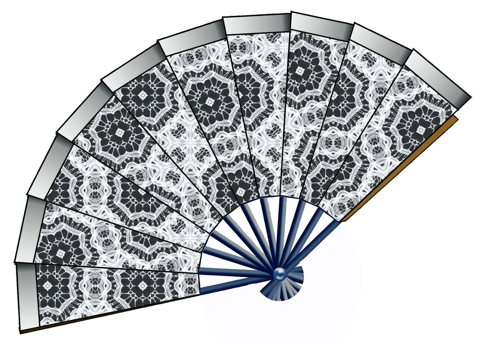 Lace clipart fan. Artbyjean paper crafts decoupage