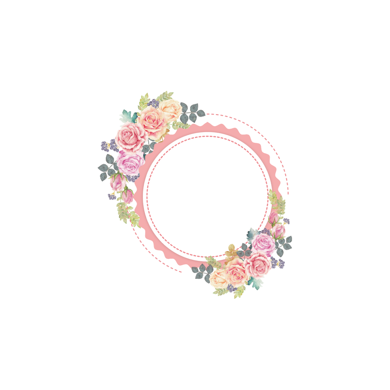 Lace clipart flower indian. Flowers wreath painted vector