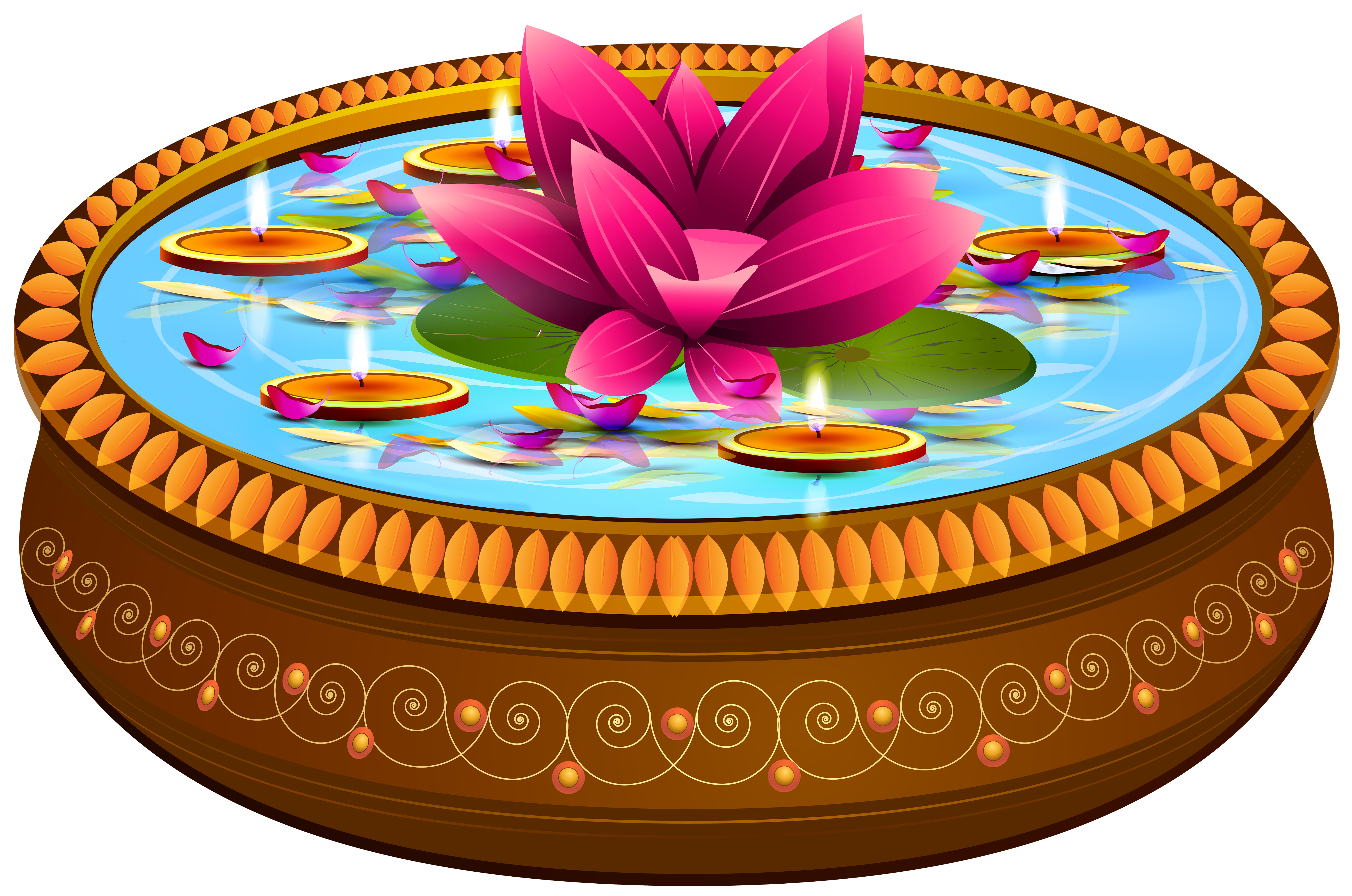 Lace clipart flower indian. Floating candles and lotus