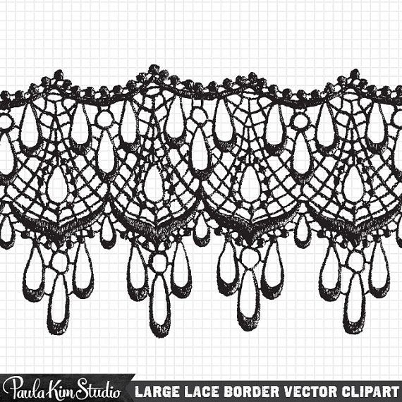 Lace clipart lace print. Antique clip art instant
