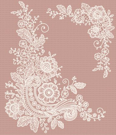 Lace clipart lace print. Best images on