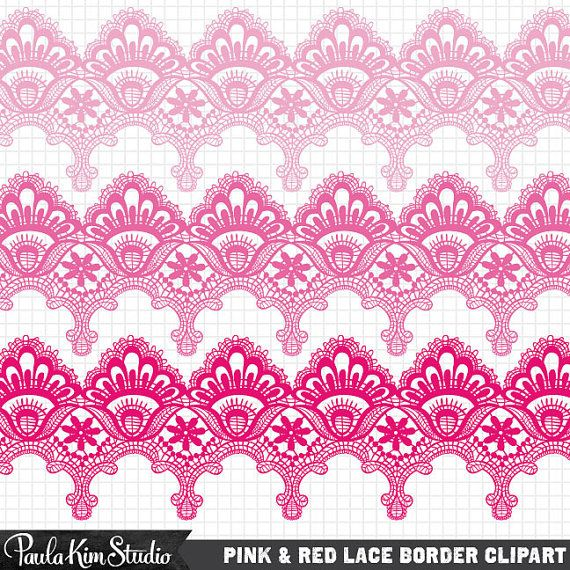 Lace clipart pink lace. Red clip art by