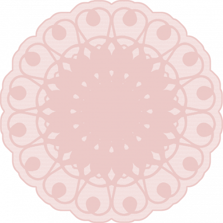 Doily transparent victorian. Sweet vintage pink graphic