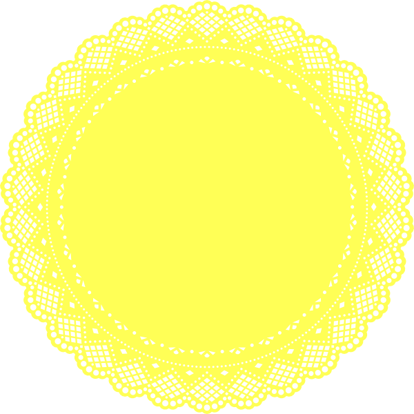 Lace doily png. Yellow clip art at