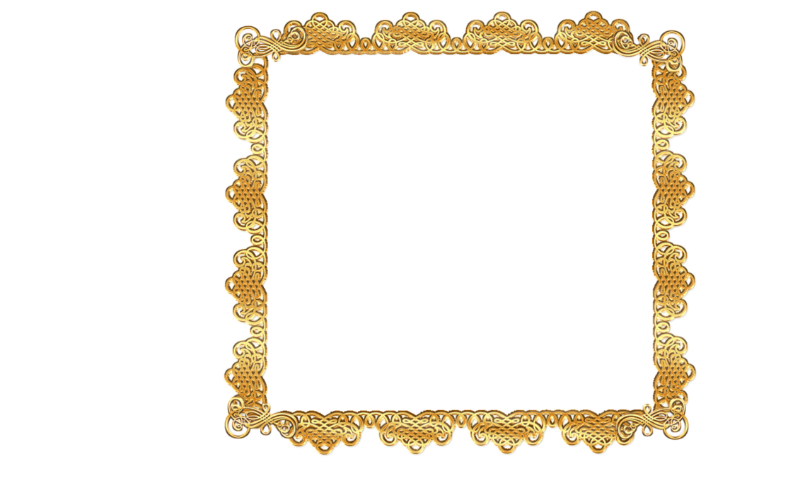 Gold lace png. Frame image