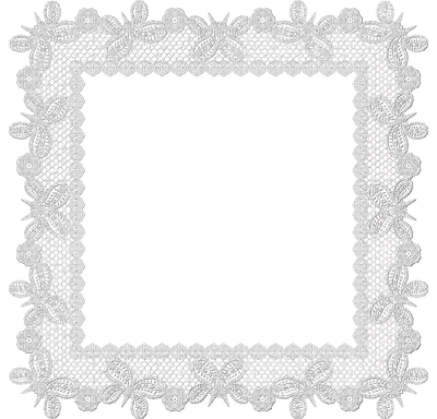 Lace frame png. White picmix framewhitelace