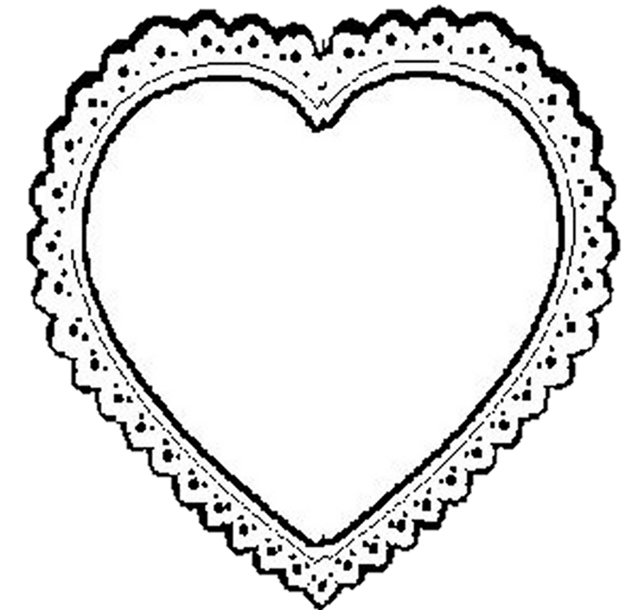 Lace heart png. Clipart