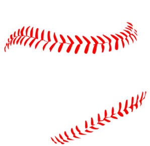 Laces clipart. Red baseball clip art