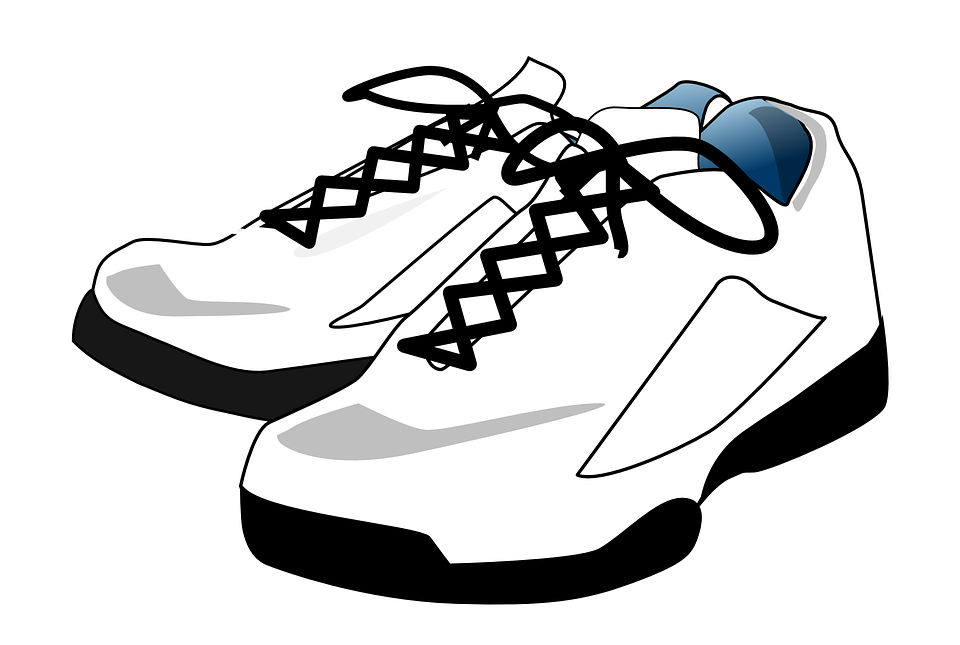 Laces clipart. Download sneakers shoes white
